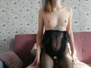 babe in a sexy suit jumps on a dick in different positions, cumshot - Sunako_Kirishiki