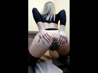 handjob control. Classic with control furry pussy completely with hairs, stockings, heels, black lin