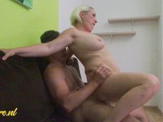 What Are You Doing!? Busty Wife Helps Her Friend's Husband Cum