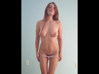 Cutie gets naked for you