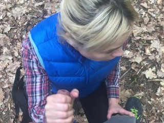 small russian Fucked in mouth by Stranger in Forest!