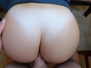 HE FUCKS MY TIGHT ASS UNTIL THE END