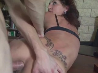 crazy stepmom gets fisting & anal taboo sex from stepson