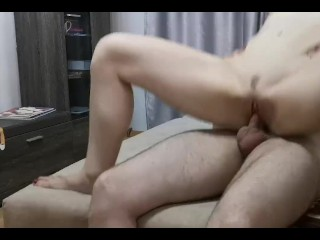 Mommy sucks and jumps on a dick