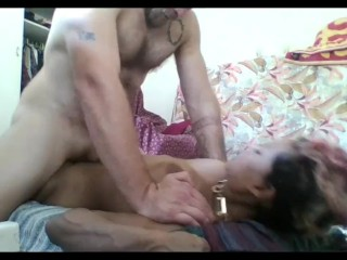 Muscular Hunk interrupted by maid while fucking South African MILF