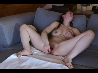 Hot German PAWG Squirts After Masturbation With Her Vior