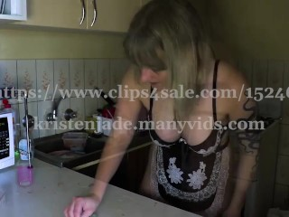 Aussie Maid Cleans With Buttplug In