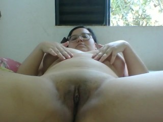 cumming in bed, and giving yummy moans