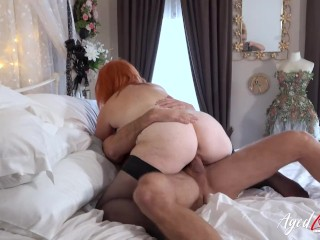 AgedLovE Straight Sex With Busty Mature Redhead
