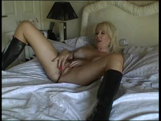 Thigh High boots and satin Blouse gets Christie fucked hard