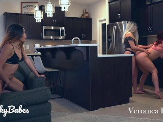 Caught My Wife Cheating with Best Friend & Masturbated While Watching: Lesbian Cuckquean KinkyBabes