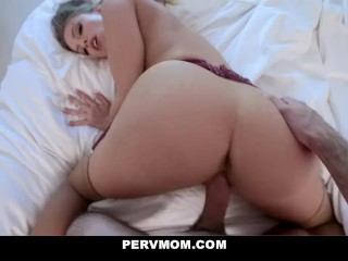 My Stepmom Britney Amber Wants Me To Oil Her Up