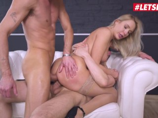 HerLimit - Angelika Grays Ukrainian Slut First Rough Anal Threesome - LETSDOEIT