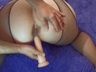 Massaging both holes with my voluptuous housemaid