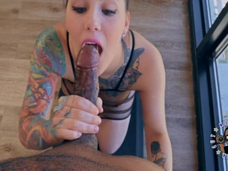 TFBE14: POV Jae Lynn gives me a very sexy blowjob while spraying me with her MILK