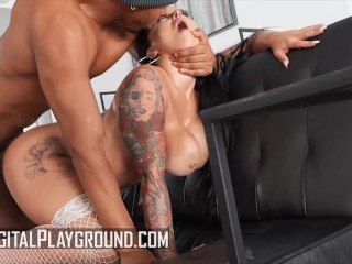 DigitalPlayground - Busty Payton Preslee Rubs Her Wet Pussy Before Ricky Johnson Gives Her His Bbc