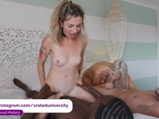 Swingers Orgy with Big Black Dick and lots of Gagging