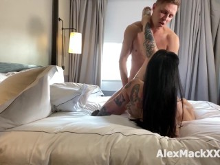 Busty Inked Babe Jessie Lee is riding a big cock