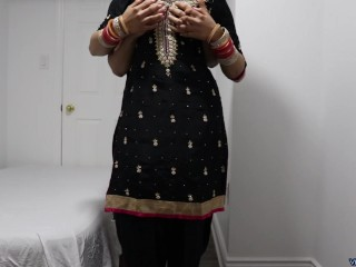 Punjabi NRI Newly Married wife giving helping hand to his Husband. Part 1