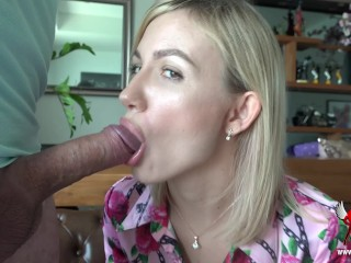 Seductive blow job, how long can you hold on?