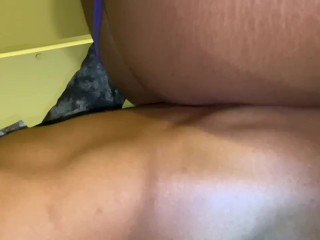 Guy try's Anal first time with lesbian and then lesbian gets pounded out by big black dick