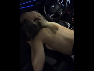 Giving a Famous Athlete a Blowjob in His Car