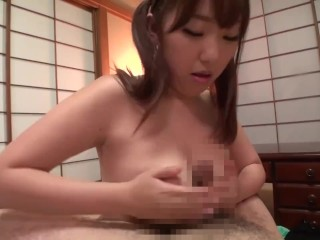 Taboo Japanese BBW blowjob and titjob old vs young