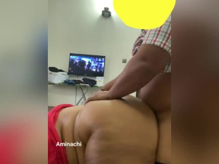 Fucking her creamy pussy doggy style