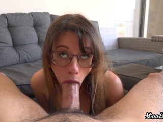 Extreme sloppy deepthroat with the best busty girlfriend