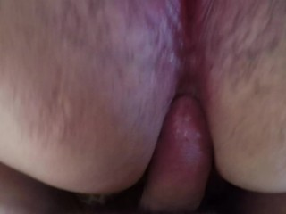 BBW POV PAINAL - She Used Her Vibrator and I Used Her Asshole