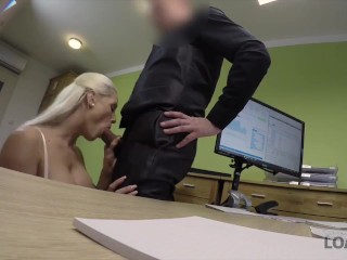 LOAN4K. Poor and gorgeous shop assistant has wild sex with stranger