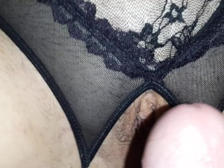 Wife With Huge Tits Rides Cock! Pussy Covered in Cum!