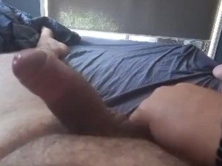 Wednesday lunch wank and cum