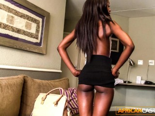 Black fashion model came to fake casting and got ass fucked by agent