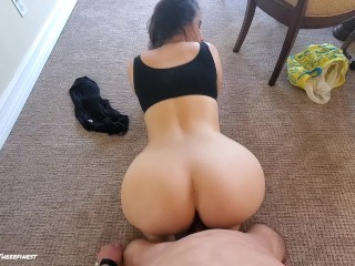 MY BIG BOOTY WIFE DOGGYSTYLE RIDING MY COCK