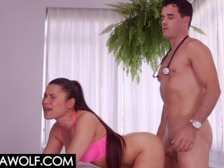 Cuckold In A Coma - Meana Wolf - Doctor fucks Patients Hotwife