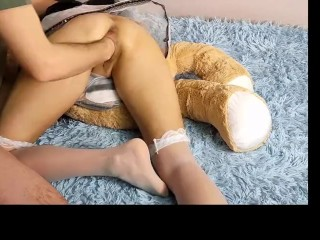 quick hard fisting action teddy bear