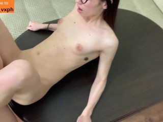 Fit Girl got Fucked on the Kitchen Table & Facial