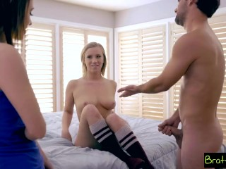 Bratty Sis - step Sister And BFF Fall For step Brothers Sex Games