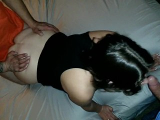 Making sis fuck big and little stepbrother