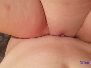 Wet pussy grinding and rubbing on dick till cumshot