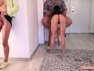 My horny latina roommate fuck with her Tinder dates everywere