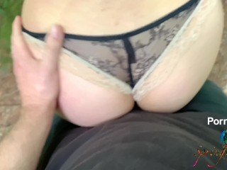 College GF Gets a Big Creampie in a Forest - Leaking Cum All the Way Home