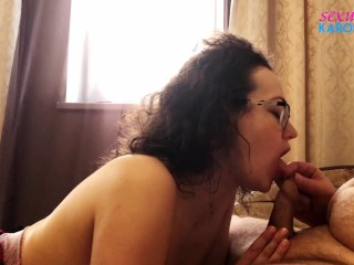Horny MILF Passionate Blowjob and Fucking Cock - Oral Creampie