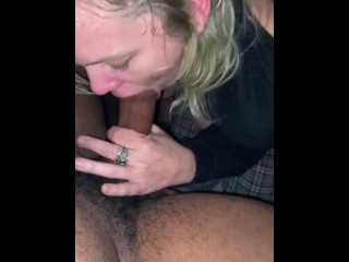 Hot Blonde chokes on big black dick makes her throw up then gets mouth filled with cum