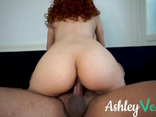 I got fucked from behind on the sofa watching TV - Netflix and Chill - Ashley Ve
