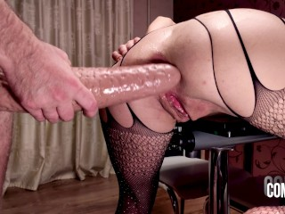 MILF anal riding a dildo very unusual t