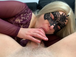 Emma rides big cock until she cums all over it!