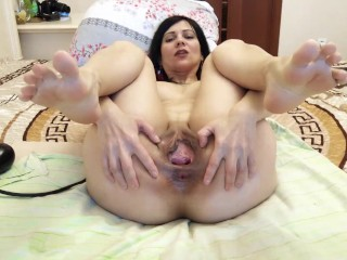 very strong stretching of the vagina
