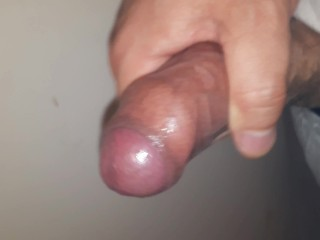 Jerking my uncircumcised cock to a thick and hard cumshot explosion, small hard penis masturbation